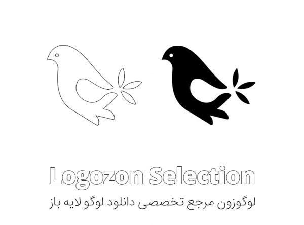 لوگو شکل دست و پرنده