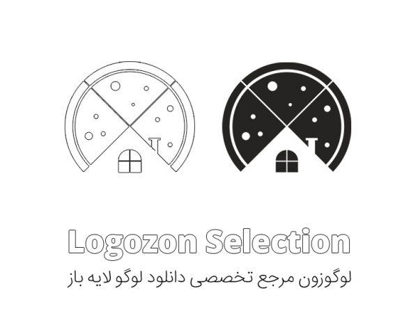 لوگو طرح خانه و پیتزا